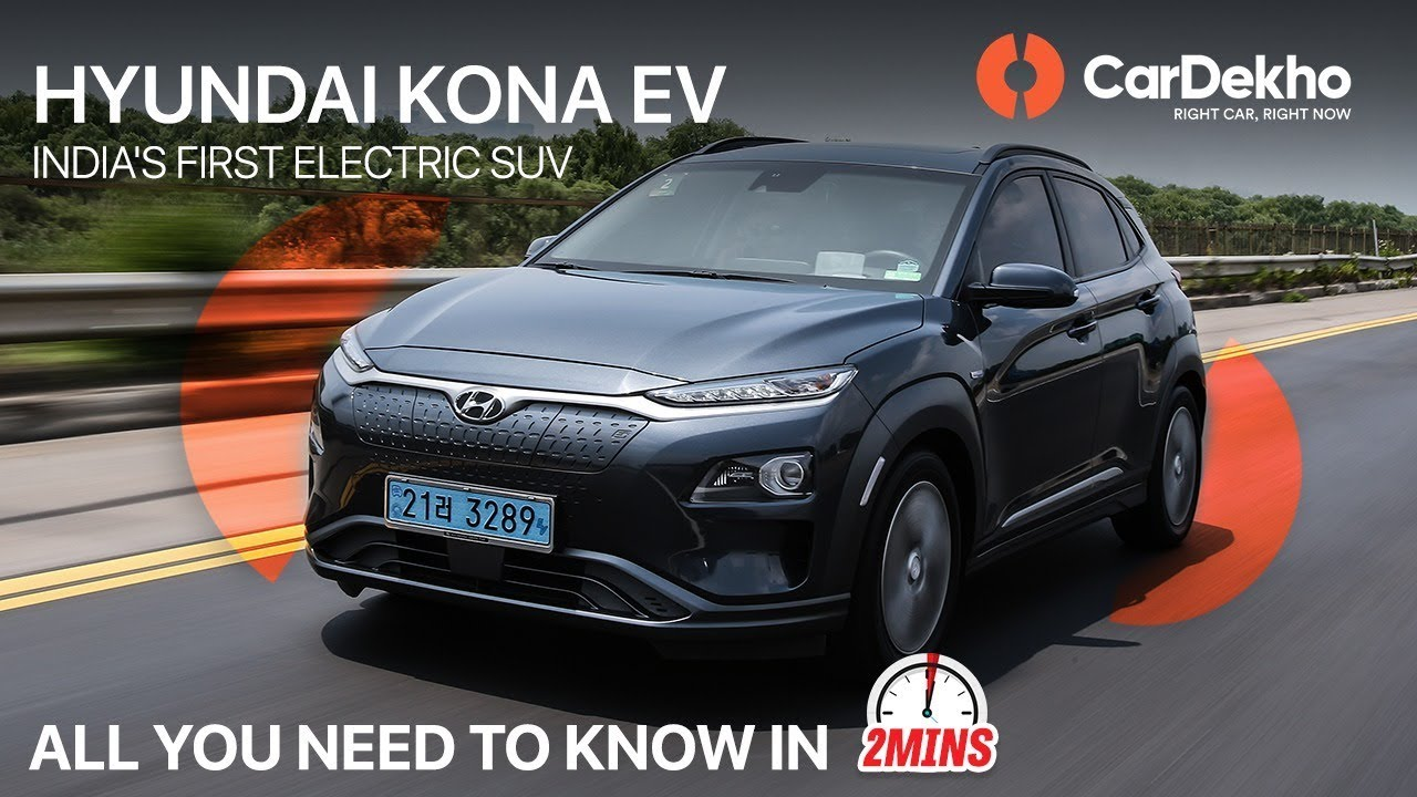 Hyundai Kona 2019 India S 1st Electric Suv Launch Date Price More Cardekho In2mins
