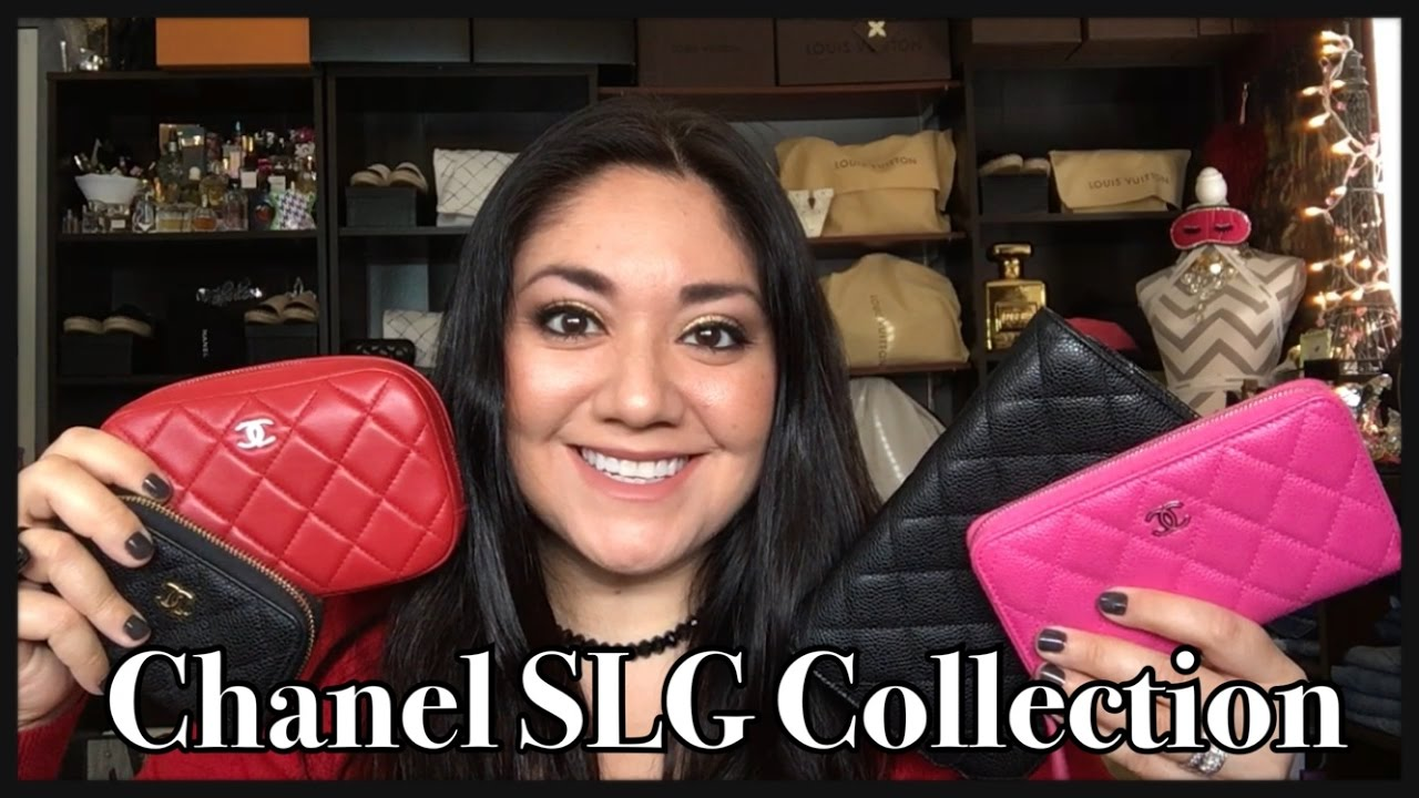 c209bec035da My Chanel SLG (Small Leather Goods) Collection 2016 - YouTube
