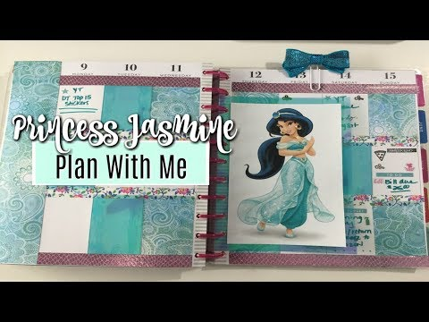 PLAN WITH ME   HAPPY PLANNER   Princess Jasmine Theme