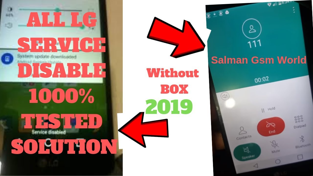 All LG Service Disable Bypass Solution 2019||LS775 Service DIsable Latest  Solution