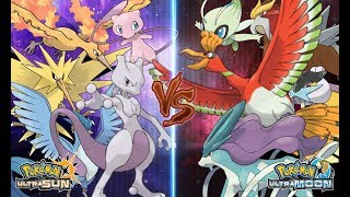 Pokémon Ultra Sun and Ultra Moon: Kanto Legendary Vs Johto Legendary (Kanto Vs Johto)
