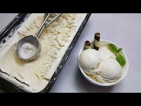 HOMEMADE VANILLA ICE CREAM || 3 INGREDIENT EGGLESS VANILLA ICE CREAM WITHOUT MACHINE