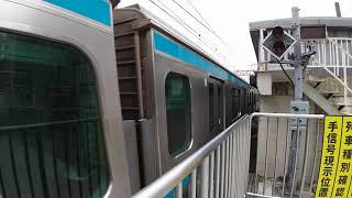 E217系東神奈川通過&E233系1000番台東神奈川発車
