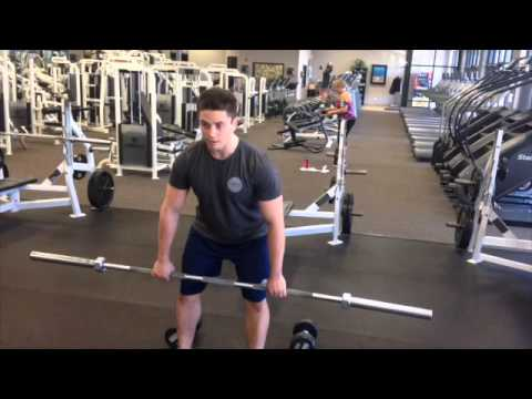 Barbell/Dumbbell Hang Clean & Press - YouTube