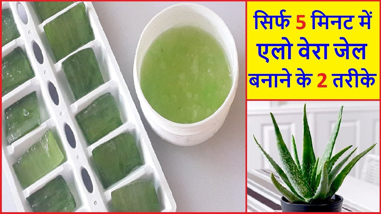 how to make aloe vera gel at home in hindi