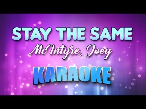 McIntyre, Joey - Stay The Same (Karaoke & Lyrics)
