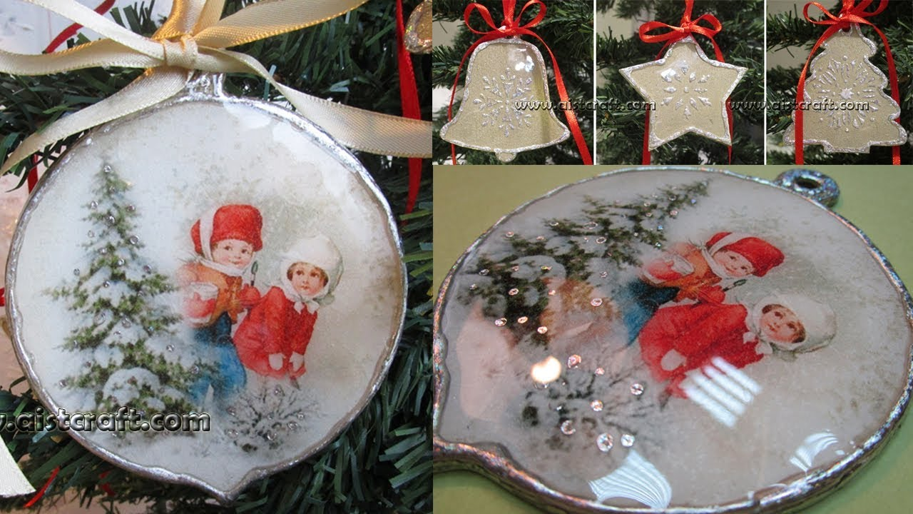 CHRISTMAS TREE Decoration Decoupage Ideas DIY ντεκουπαζ
