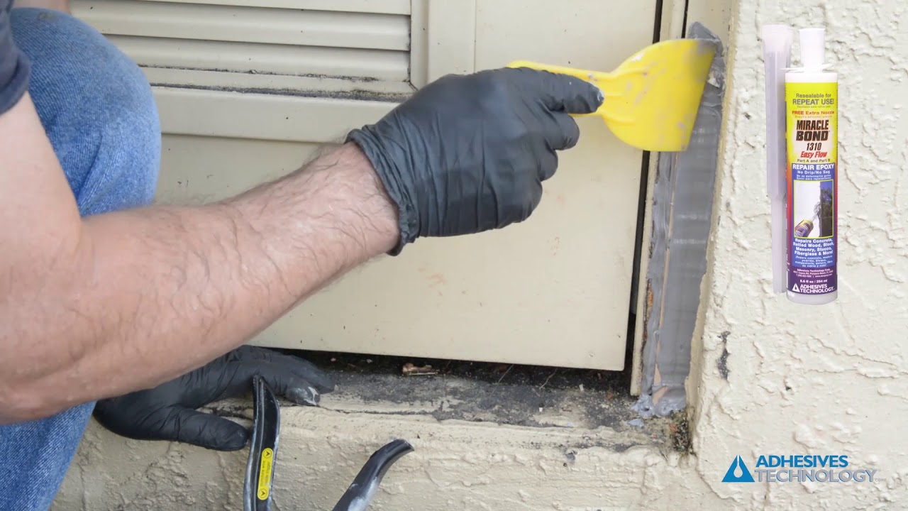 How To Repair A Rotten Wood Door Frame Youtube