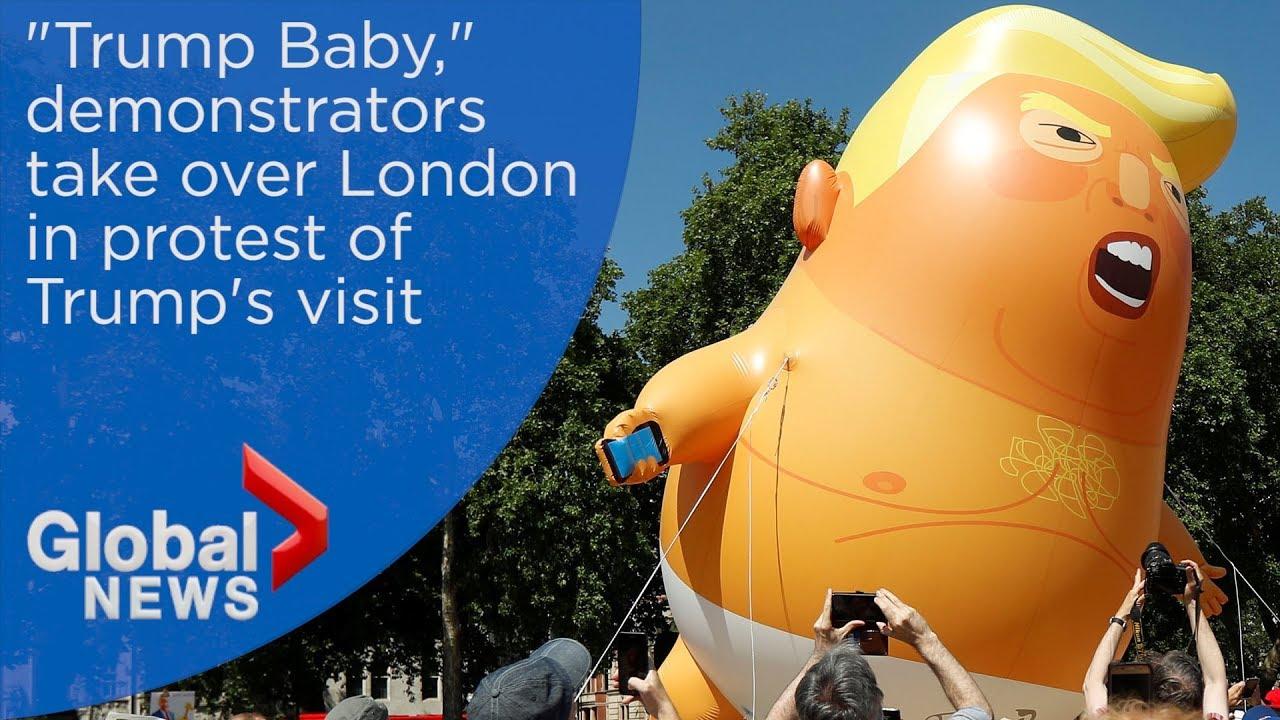 Anti-Trump protests take over London