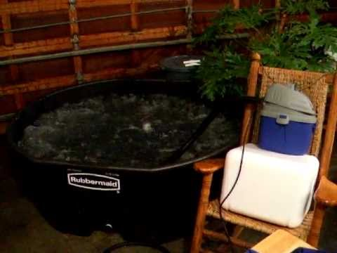 Homemade Hot Tub Stock Tank With 1 5 Hp Quot Blower Quot For