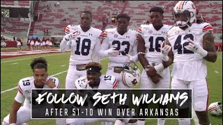 Follow Auburn's Seth Williams off the field after commanding win against Arkansas