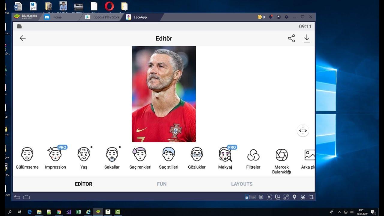bilgisayara faceapp indirme ve kullanma