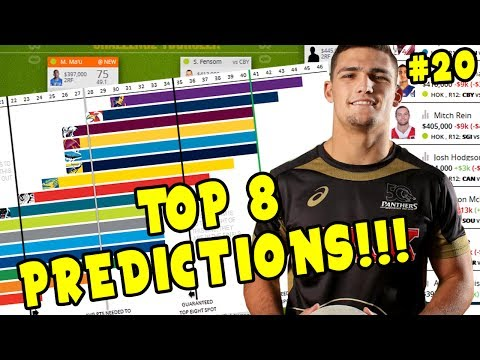 TOP 8 PREDICTIONS!!!!! | NRL Fantasy Fanatic Round 20 2017