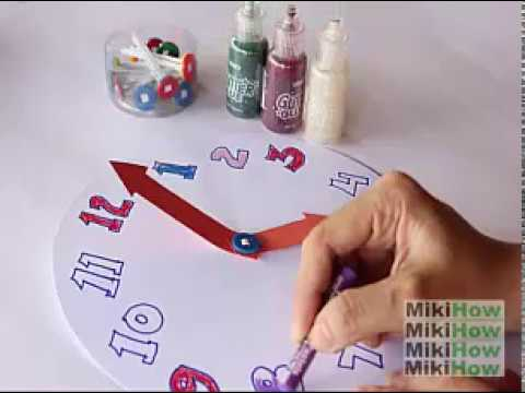 How to make a paper clock for teaching time in seconds