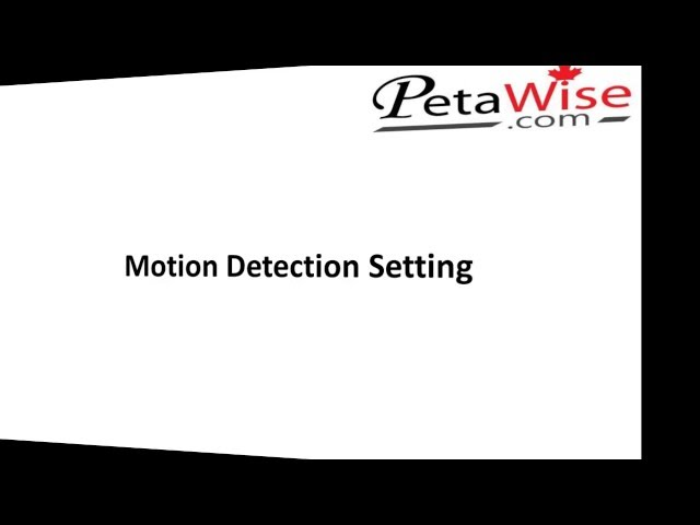 Motion Detection Setting