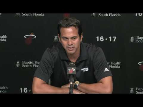 Miami Heat - Erik Spoelstra on Dwyane Wade: 'I'm going to miss him'
