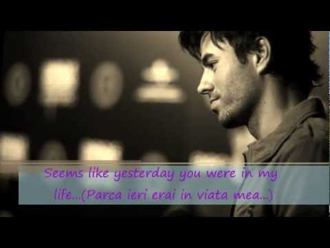 Enrique Iglesias - Wish you were here(english&romanian lyrics on screen)