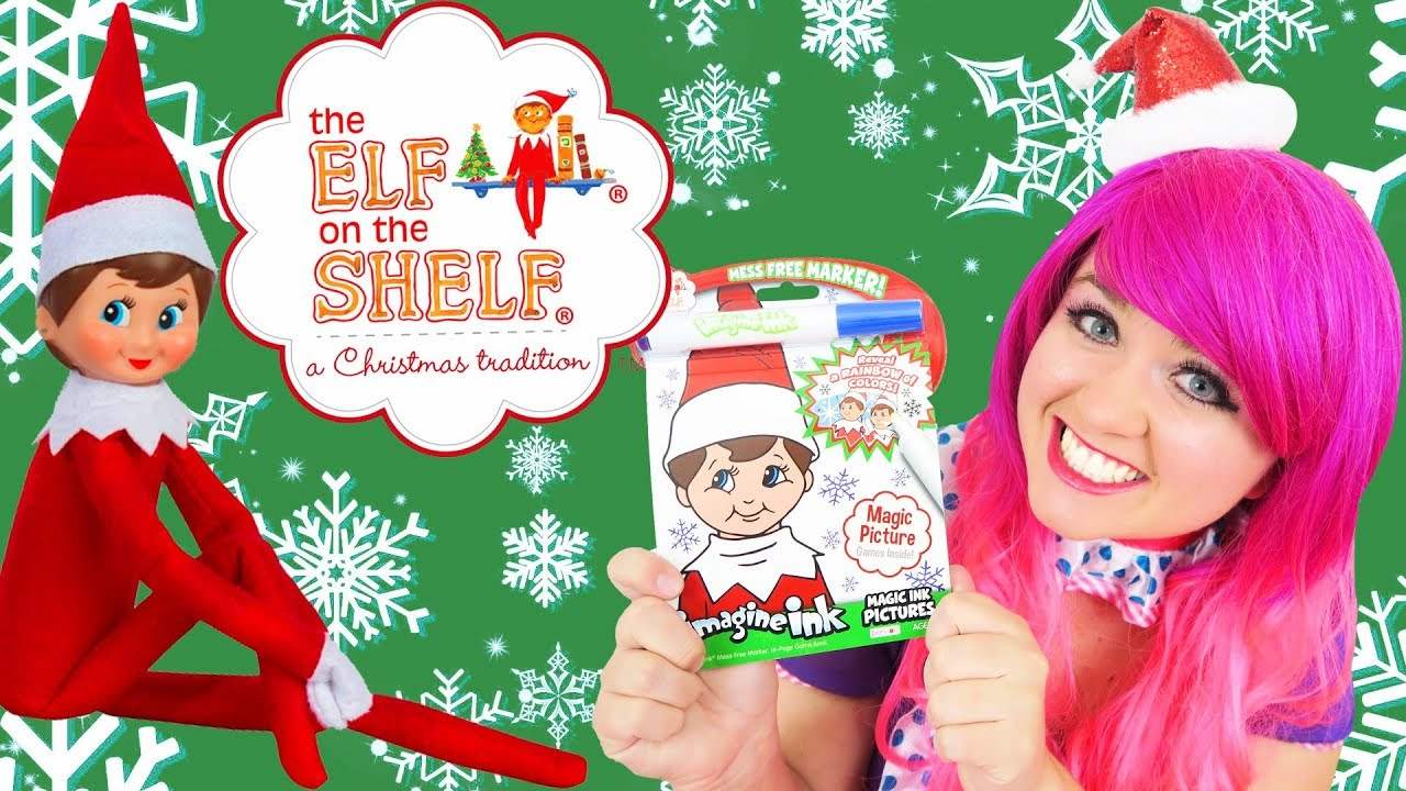 - Coloring Elf On The Shelf Christmas Magic Ink Coloring & Activity