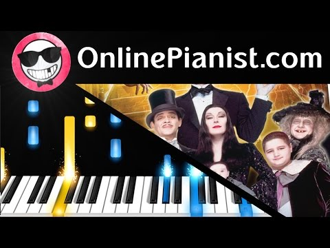 The Addams Family Theme  Piano Tutorial & Sheet Easy  How to Play