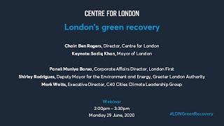 Webinar: London's green recovery