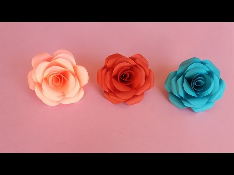 How To Make Realistic And Easy Paper Roses