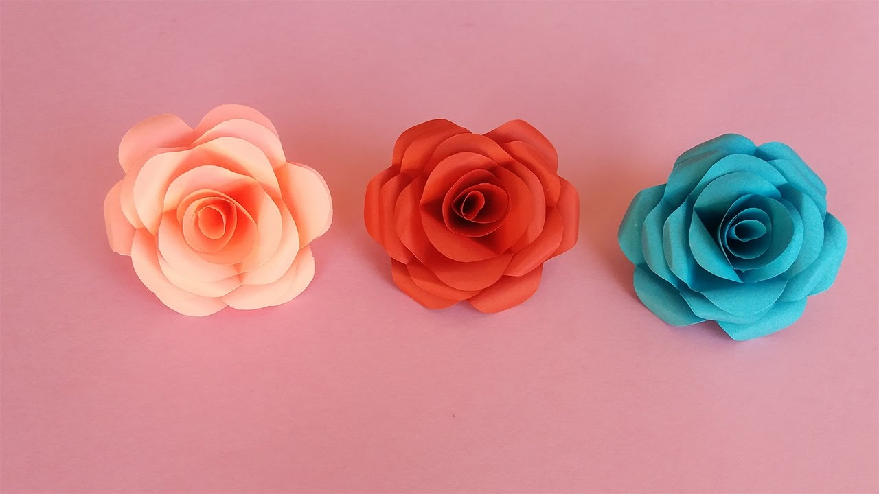 How to make realistic and easy paper roses youtube how to make realistic and easy paper roses mightylinksfo