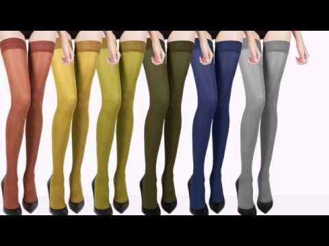 Colorful Stockings, Tights, Stay Ups, Hold Ups (Introducing Vanna)