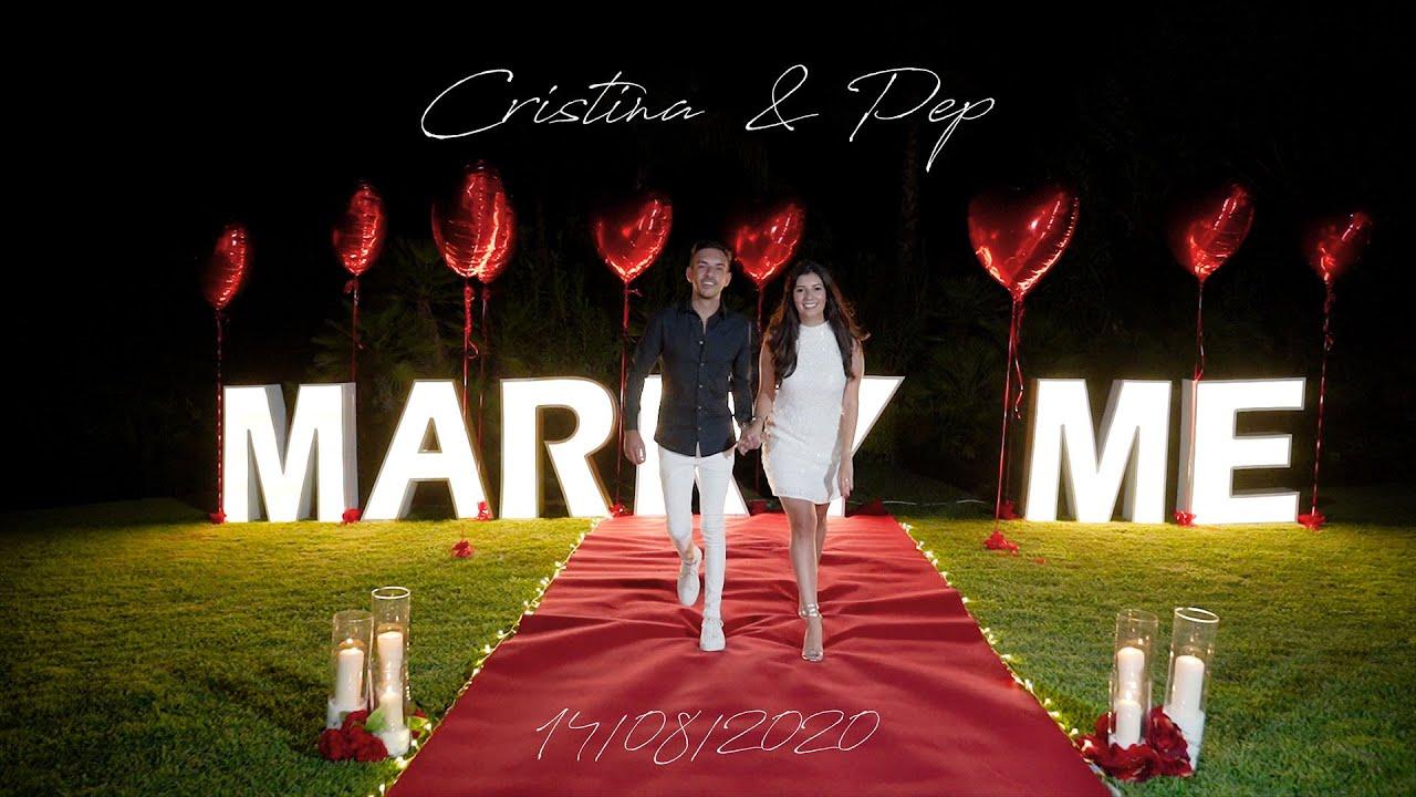 Cristina&Pep incredible proposal video in Marbella, Spain