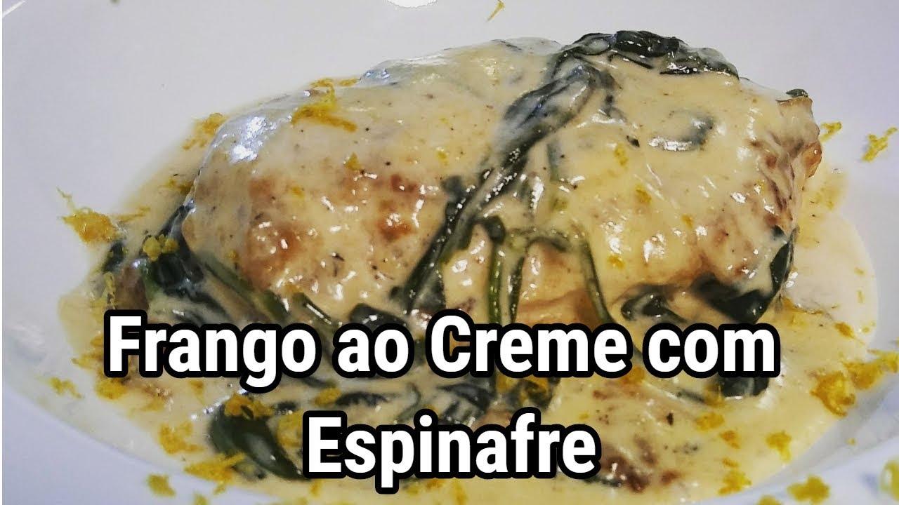 Frango Ao Creme Com Espinafre Receitas De Restaurante Muito Facil De Fazer Youtube