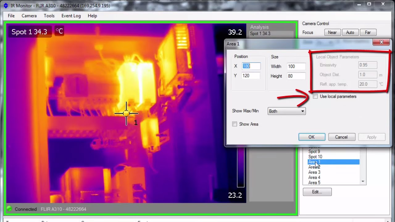 Setting Up Your Flir A310 Thermal Imaging Camera Using