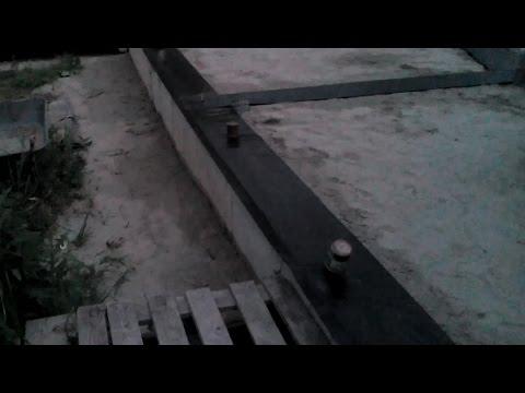 Дом из бруса | горизонтальная гидроизоляция фундамента