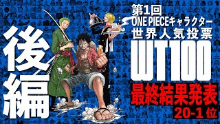 【ONE PIECE TIMES】 第1回ONE PIECE キャラクター世界人気投票!最終結果発表〜後編〜