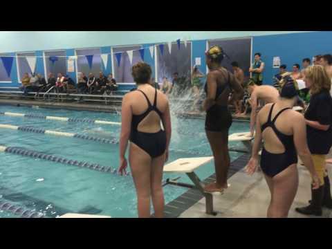 400 Freestyle Relay CHS vs. South Plainfield Swim Meet 12/2/2016