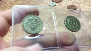 Коллекция монет Великобритании.