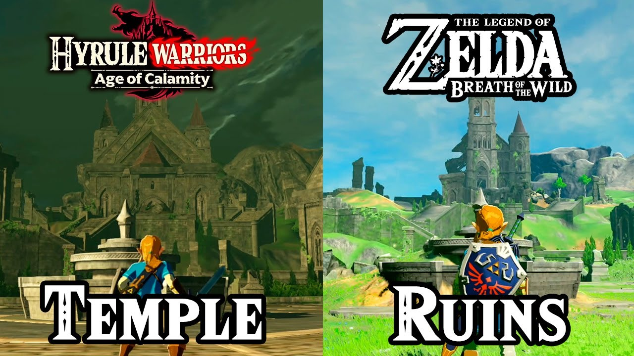 Hyrule Castle Town Comparison Zelda Age Of Calamity Vs Breath Of The Wild Youtube