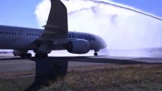 Air Europa Boeing 787 Dreamliner - Ritual de bautizo en Madrid