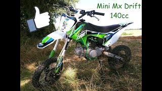 Présentation Dirt bike Mini Mx Drift 140cc YX