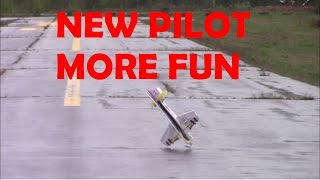 New pilot more fun - Some crashes