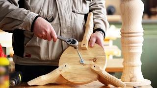 как сделать стол с одной ножкой