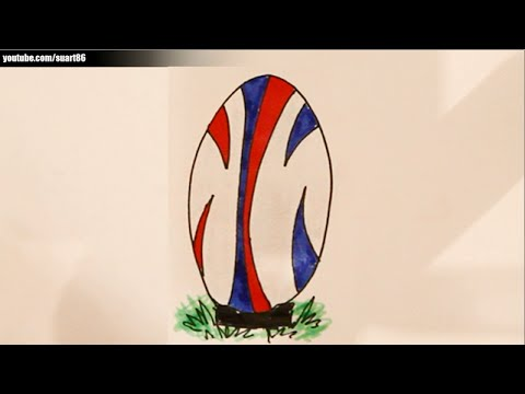 How To Draw A Rugby Ball Youtube