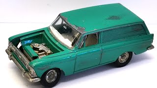 Download Moskvich restoration. Custom diecast. Olympic model. USSR produktion