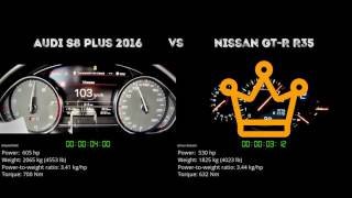 Audi S8 plus 2016 vs. Nissan GT-R R35 - the 0-100 km/h duel. Which ...