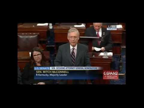 Mitch McConnell shuts down Elizabeth Warren