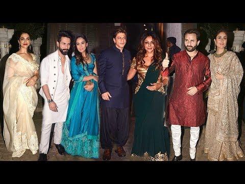 Anil Kapoor's GRAND Diwali Party 2017  Shahrukh,Deepika,Ranbir,Shahid,Kareena,Alia