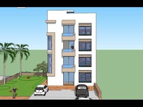 Plano de departamentos edificio peque o 1 dpto por nivel for Fachadas para departamentos pequenos