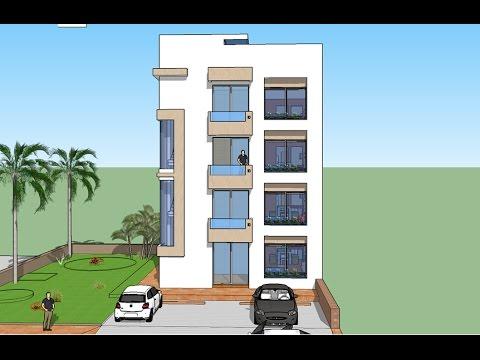 Plano de departamentos edificio peque o 1 dpto por nivel for Departamentos minimalistas planos