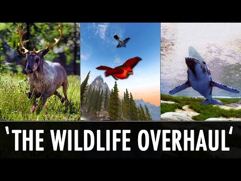 Skyrim Mods: 'The Wildlife Overhaul' - Land, Sea & Air - YouTube