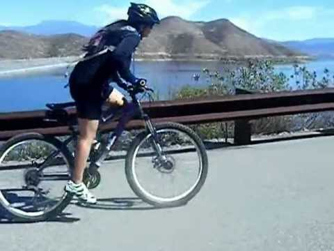 Carol rides Diamond Valley Lake ( Hemet California)