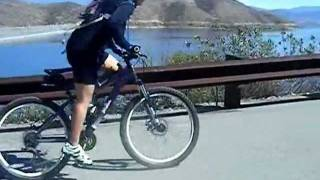 Carol rides Diamond Valley Lake ( Hemet California)