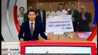Berita RTM1: Sumbangan RM1Juta Ke Tabung Harapan Malaysia